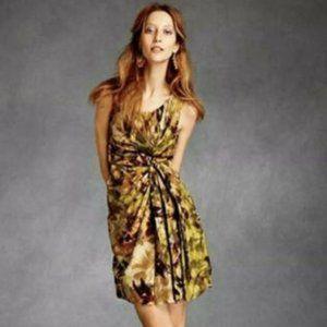 BHLDN Anthropologie Quillaree Silk Starburst Dress